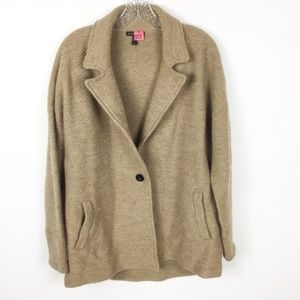 Eileen Fisher Wool Brown Button Blazer Jacket S/P